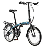 Schwinn Adapt 2 Folding Bike, 20-Inch Wheels, 8-Speed, Matte Charcoal