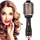 Adkwse Hair Dryer Brush, One-Step Hair Dryer & Volumizer Blow Brush,5 In 1 Multifunction Hot Air Styler Brush, Professional Negative Ion Ceramic Blow Dryer Brush for All Styling