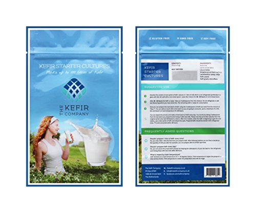 Kefir Starter Cultures - 3 sachets for up to 100 liters of Kefir - Highest Quality