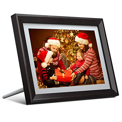 Dragon Touch 10 inch Wi-Fi Digital Picture Frame Classic 10, Touch Screen HD Display, 16GB Storage, Auto-Rotate, Share Photos with Friends via App, Email, Cloud