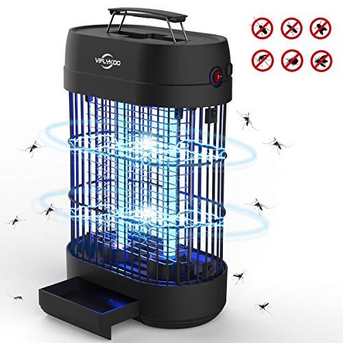VIFLYKOO Zanzariera Elettrica,Lampada Antizanzare Elettrico Insetticida 14w 60㎡ con Luce UV e...