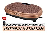 EILISON KM-818 Powerful Vibration Plate Exercise Machine - Whole Body Workout Vibration Platform Fitness w/Loop Bands - Remote, Home Training for Weight Loss & Toning