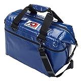 AO Coolers(エーオークーラー) ビニール ソフトクーラー 24パック ブルー 耐水 軽量 保冷 クーラーボックス AOFI24RB (日本正規品)
