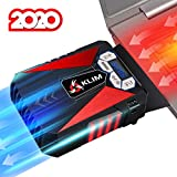 KLIM™ Cool Laptop Cooler Fan - Innovative Portable Cooling Design with Display - External Gaming Cooler - High Performance Ventilation - USB Cooling Pad - Quiet Air Vacuum - Reduce Heat - Red