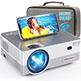 Native 1080P WiFi Projector, DBPOWER 8000L Full HD Outdoor Movie Projector Support iOS/Android...