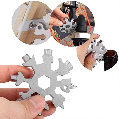 18-in-1 Stainless Steel Snowflakes Multi-Tool,Snowboarding...