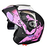 Motorcycle Helmets, Anti-Fog and Anti-Collision Anti-Glare Breathable Full-Face Helmet Men and Women Biker Helmet ECE/DOT Approved A,XXL
