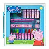 Undercover- Peppa Pig - Maletín de Pintura (37 Piezas, Ceras, rotuladores, Borrador, sacapuntas, Regla y lápiz), 0 (PIGP4292)