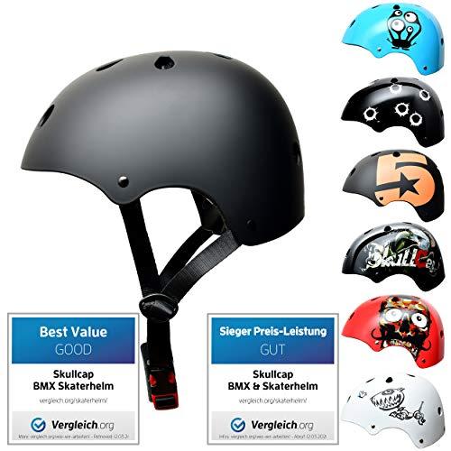 SkullCap® Kids BMX & Skate Helmet - Bicicleta Y Scooter Eléctrico,...
