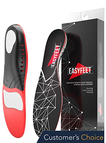 Plantar Fasciitis Arch Support Insoles for Men and Women Shoe Inserts - Orthotic Inserts - Flat Feet Foot - Running Athletic Gel Shoe Insoles - Orthotic Insoles for Arch Pain High Arch - Boot Insoles