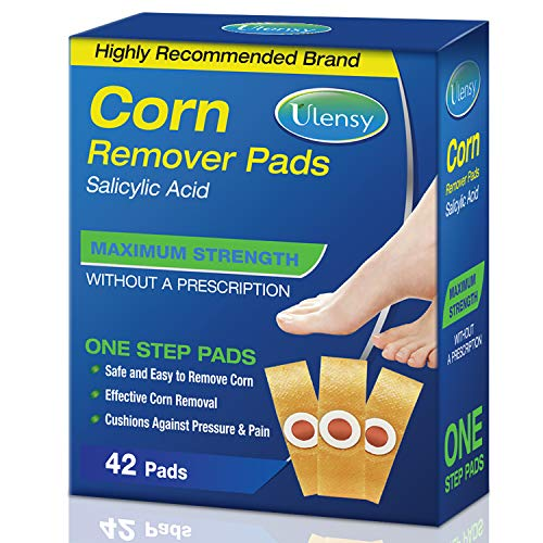 Corn Remover, 42 Corn Remover Pads, High Efficacy Corn Treatment Pads, Toe and Callus Corn Removal, Best Corn Remover Pads for Foot Corn Removal, 42 Pads