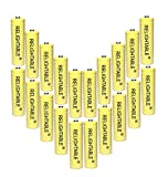 RELIGHTABLE AA NiCd 600mAh 1.2V Rechargeable Batteries for Solar Garden Lights (Pack of 20)