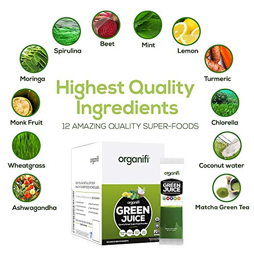Organifi: GO Packs - Green Juice - Organic Superfood Supplement Powder - 30 Count - Organic Vegan Greens - Hydrates and Revitalizes - Support Immunity, Relaxation and Sleep 2