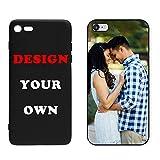 Naispanda Coque pour iPhone 7 iPhone 8- Coque Téléphone Personnalisée, Personnalisable avec Votre Propre Image au Choix Case pour iPhone Bordure TPU+Dos Glass Design