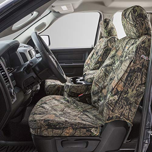 Covercraft Carhartt Mossy Oak Camo SeatSaver Front Row Custom Fit Seat Cover for Select Ford Models - Duck Weave (Break-Up Country) - SSC2257CAMB
