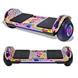 TPS Hoverboard Self Balancing Scooter with Speaker LED Lights Flashing Wheels for Kids and Adults Hover Board - UL Certified (Hydro Dipped Pink)