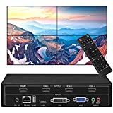 fomobest Video Wall Controller 2x2 TV Wall Processor 1080p 1x4 HDMI Splitter Output, USB HDMI VGA DVI Input with RS232 Control and Cascading, Display Modes 1x2 2x1 1x3 3x1 4x1