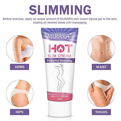 Hot Cream Cellulite Treatment, Belly Fat Burner for Women & Women,Anti-Cellulite Workout Sweat Cream for Waist,Abdomen,Thight and Buttocks,Weight Loss Firming Cream,2 Fl Oz 5