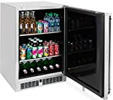 Lynx LM24BFR 24' Professional Series Outdoor Beverage Center with 2 Removable Shelves, in Stainless Steel with Right Hinge