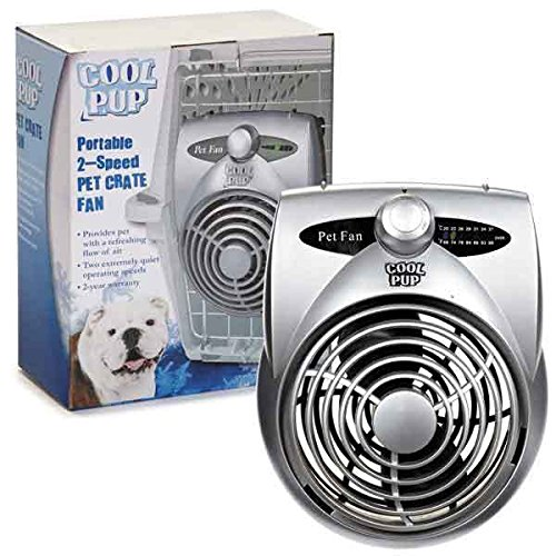 Cool Pup Dog Crate Cooling Fan Pet Cage Two Hours...