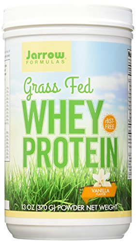 Jarrow Formulas Whey Protein Grass Fed, Sports Nutrition, Vanilla, 370 g, 13.8 Ounce (VAN1G)