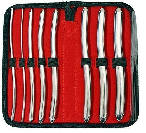 Instruments GB - Urethral Hegar Sounds Surgical Gyne Medizinische Instrumente für Harnröhrenuntersuchungen, 8-teiliges Set