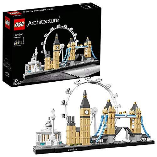 LEGO 21034 Architecture London, Skyline-Kollektion, London Eye, Big Ben, Tower Bridge, Bauset,...