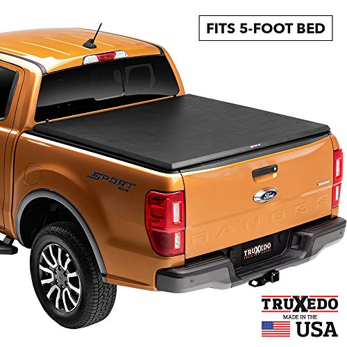 TruXedo TruXport Soft Roll Up Truck Bed Tonneau Cover | 292301 | fits 2005-20 Nissan Frontier 5' bed,Black
