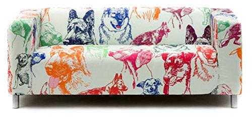 Artefly Copridivano per Divano Klippan e Federa per Cuscino, Linea: Dogs Adatto per divani Ikea...