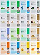 Dermal Korea collagen essence full face facial mask sheet 16 combo pack 16 different types of facial mask will help your skin more healthy, clear and elastic (as pictured) Contains vitamin E and collagen which keeps your tired skin lively and healthy...