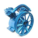 BTDH 175PSI 5.5HP Air Compressor Pump Head 21CFM Double Stage Twin Cylinder Universal Low Energy Consumption Air Compressor Head Motor Faster Inflation&Low Noise