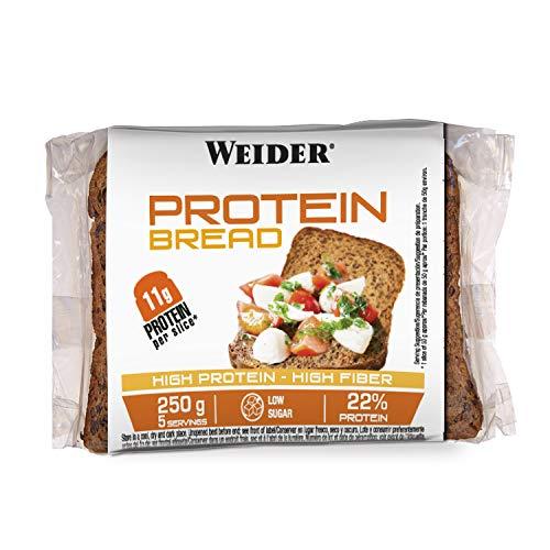 Weider Protein Bread. Pan Proteico riquísimo con 11g de proteína. Con fibra y bajo en azúcares (5x250 g)