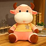 ZHANGWENJIE Kawaii Vaca Mascota muñeca de Peluche Animal Encantador Ganado Juguetes de Peluche para niños niñas 22cm A