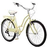Schwinn Perla Womens Beach Cruiser Bike, 26-Inch Wheels, Yellow