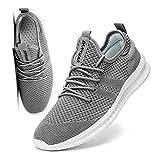 FUJEAK Hommes Chaussures De Course Hommes Casual Chaussures De Marche Respirantes Sport Baskets Athlétiques Gym Tennis Slip on Chaussures Légères Confortables