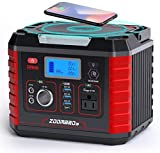 ZOOMBROS 300W Power Station, 289WH 78000mAh Solar Generator CPAP Backup Battery with 110V Pure Sine Wave AC Outlet, Wireless Charger, QC3.0 USB, Type C for Outdoor Camping RV Power Outage Emergency