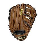Wilson A900 Gants de baseball Men's, British Tan/Black, 12.5 inch