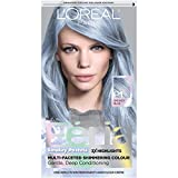 L'Oreal Paris Feria Multi-Faceted Shimmering Permanent Hair Color, Pastels Hair Color, P1 Sapphire Smoke (Smokey Blue), 1 kit Hair Dye