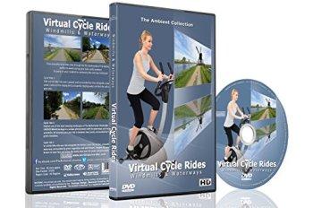 Balades en Vélo Virtuelles - Cours d'eau et moulins à vent - Pour exercices en intérieur, vélo d'appartement et tapis roulant.