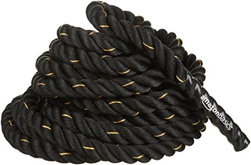 AmazonBasics 5.08 cm Heavy Exercise Training Workout Battle Rope - 1244*2.77*2.77 cm, Black