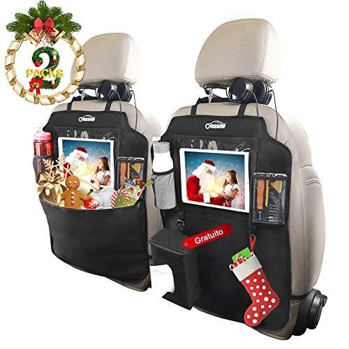 Protezione Sedili Auto Bambini, Oasser 2pcs Proteggi Sedile Organizzatore Sedile Posteriore...
