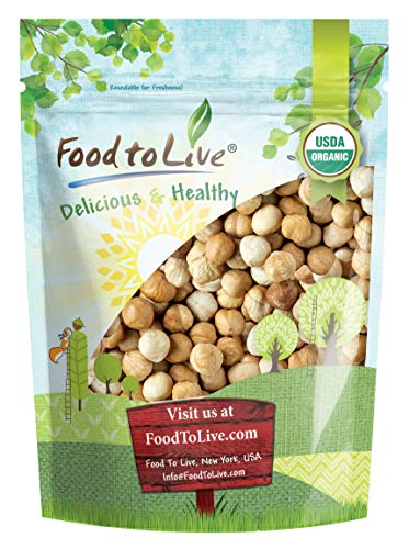 Organic Blanched Roasted Hazelnuts, 1 Pound - Non-GMO, No Skin, Unsalted, Kosher, Vegan, Keto, Paleo, Dry Roasted Filberts in Bulk, Great for Snacks, Salads, and Granola