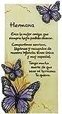Framan PERGAMINO DE Piedra LABRADA con Textos para Ocasiones Especiales, Original Y ECONMICO. Especial Hermana