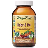 MegaFood, Baby & Me, prenatal Vitamin with folic Acid, Iron & Herbs, Non-GMO, Vegetarian, take 4 Tablets Daily, 120 Tablets (30 Day Supply) (FFP)