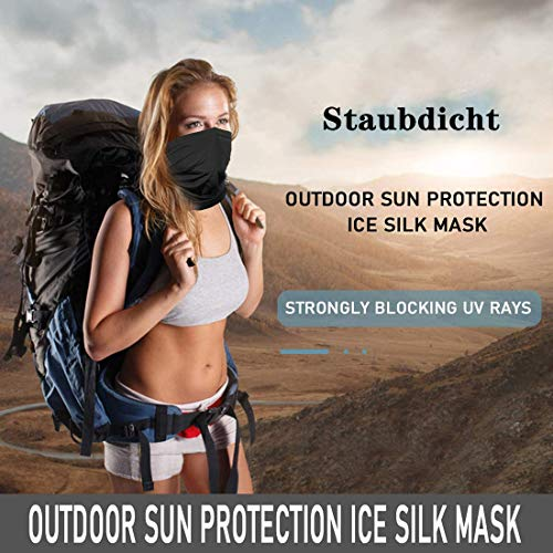Neck Gaiter Bandana Face Cover, Sun UV Protection Balaclava Face Scarf Mask for Men Women, Windproof Sunscreen Breathable Ice Silk Cooling Sports Headwear for Dust Outdoors, 12+ Ways to Wears, UPF 50