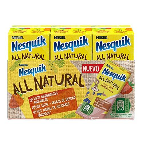 Nestlé Nesquik All Natural Fresa Ready to Drink 3x180 ml -