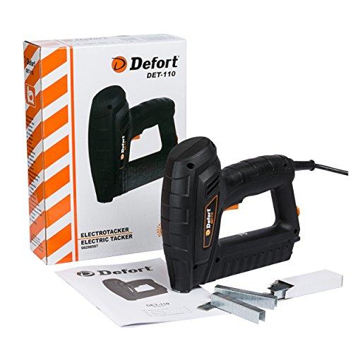 Defort DET-110 - Graffatrice elettrica potente 20 S/min adatta per graffette e chiodi
