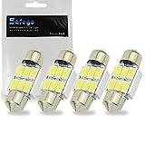 Safego 4x C5w led 31mm 5630 SMD 6 LED Ampoule Lampe Dôme Festoon C5w Led...