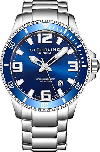 Stuhrling Original 395.33U16 Herren-Armbanduhr Analog Quarz Edelstahl