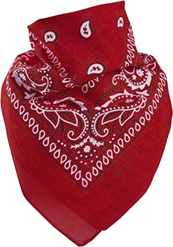 Harrys-Collection Unisex Bandana Bindetuch 100{0a6c930c8cdc1fdd516bacbdaee86e15d001ed639ff49aad9e341b085f3df093} Baumwolle (1 er 6 er oder 12 er Pack), Farbe:rot